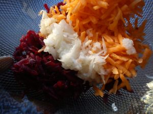 3 colors for the coleslaw