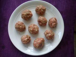 Preparing the meatballs 2