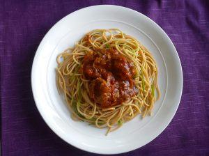 Spaghetti & meatballs ready
