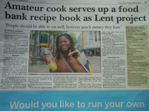the Bank Cook in the Advertiser paper