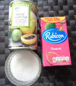Ingredients for the sorbet