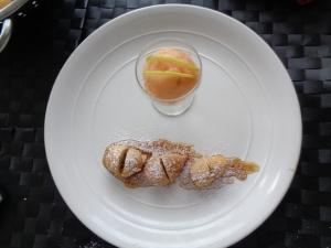 Bunoelos, lime syrup & tropical sorbet
