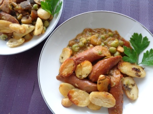 Sausage ratatouille w/marrofat
